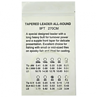 Tapered Leader 3X 9ft