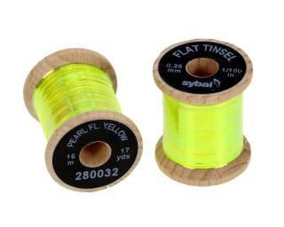 Flat Tinsel Pearl Fluo Yellow 0,25 mm