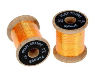 Flat Tinsel Pearl Orange 0,25 mm