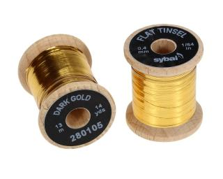 Flat Tinsel Dark Gold 0,4 mm