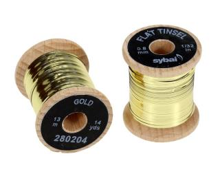 Flat Tinsel Gold 0,8 mm