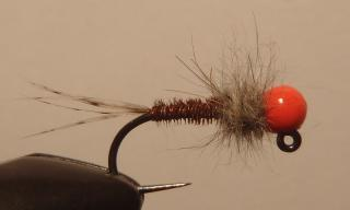 Tungsten Pheasant tail orange