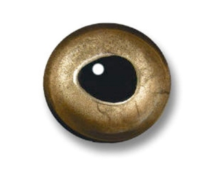 3D Epoxy Eyes, Real Gold, 6 mm