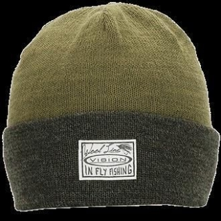 WILLA Light Beanie, Dark olive/light olive