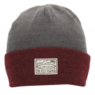 WILLA Light Beanie, Red/grey